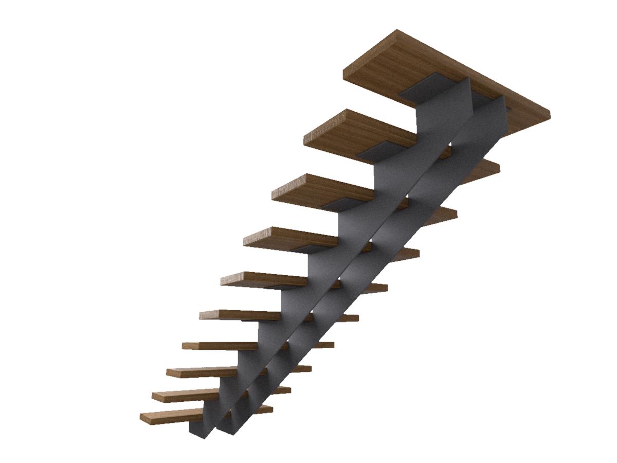 Металлический каркас для лестницы из листовой стали 8 мм