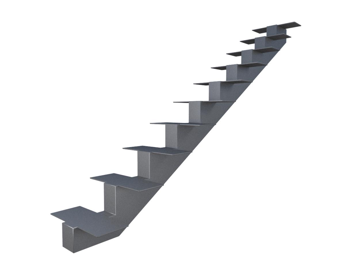 металлический косоур для лестницы из листовой стали 8 мм, опорная пластина 8 мм