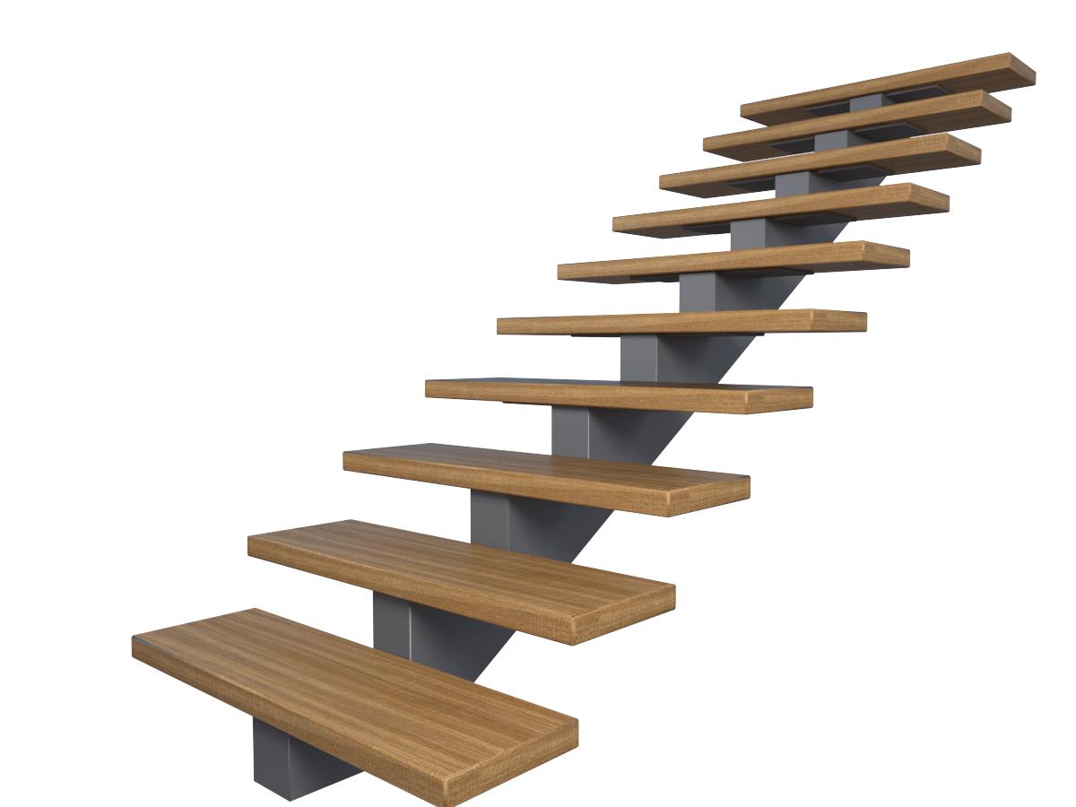 металлический косоур для лестницы из листовой стали 8 мм собранной в короб , опорная пластина 8 мм (10) мм
