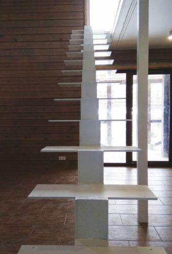металлический каркас лестницы Петришки